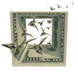 Grand dos d'oiseaux en dollars Images libres de droits
