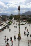 Grand dos de Barkhor du temple de Jokhang à Lhasa Photos libres de droits