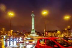 Grand dos de bastille, Paris images libres de droits