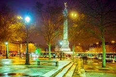 Grand dos de bastille, Paris image stock
