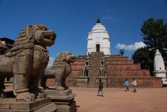 Grand dos de Bhaktapur - Népal Images libres de droits