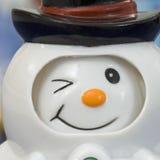 Grand dos de bonhomme de neige de clin d'oeil Photos stock
