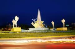 Grand dos de Ceviche dans des étoiles de mer et des seashells de Cancun image stock