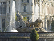 Grand dos de Cibeles, Madrid Photos stock