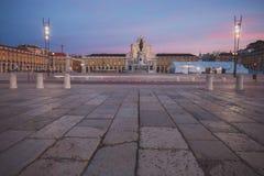 Grand dos de commerce à Lisbonne Photos libres de droits