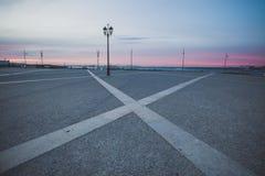 Grand dos de commerce à Lisbonne Photographie stock