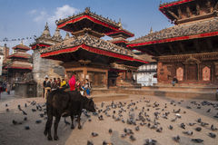 Grand dos de Durbar à Katmandou Photo libre de droits