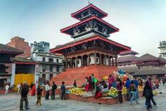Grand dos de Durbar à Katmandou Photos libres de droits