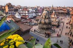 Grand dos de Durbar à Katmandou, Népal Photographie stock libre de droits