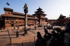 Grand dos de Durbar à Katmandou, Népal Image libre de droits