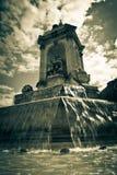 Grand dos de fontaine à Paris Images libres de droits