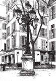 Grand dos de Furstemberg à Paris Images libres de droits