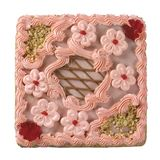 grand dos de gâteau Image stock