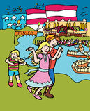 grand dos de gosse de festival de danse d'aventures illustration stock