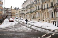 Grand dos de guerrier dans la neige photos libres de droits