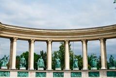 Grand dos de héros à Budapest Photo stock