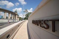 Grand dos de héros à Budapest Photographie stock libre de droits