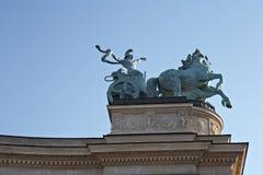 Grand dos de héros à Budapest, fragment. Image stock