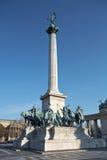 Grand dos de héros à Budapest, Hongrie Images stock