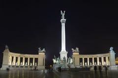 Grand dos de héros, Budapest, Hongrie Image stock