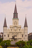 Grand dos de Jackson et cathédrale de St Louis, la Nouvelle-Orléans Photos libres de droits