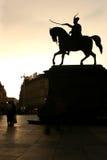 Grand dos de Jelecic à Zagreb Images libres de droits