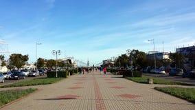 Grand dos de Kosciuszko à Gdynia, Pologne Photographie stock libre de droits