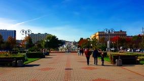Grand dos de Kosciuszko à Gdynia, Pologne Photo stock