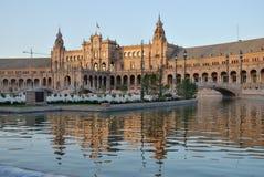 Grand dos de l'Espagne en Séville Photographie stock libre de droits