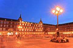 Grand dos de maire de plaza, Madrid, Espagne Image libre de droits