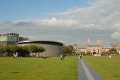 Grand dos de musée à Amsterdam Photographie stock