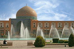 Grand dos de Naqsh-i Jahan à Isphahan, Iran Photographie stock libre de droits