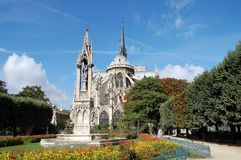 Grand dos de Notre Dame Photos libres de droits