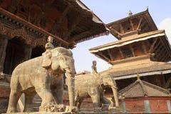 Grand dos de Patan Durbar, Népal Photo libre de droits
