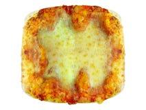 grand dos de pizza Photos libres de droits