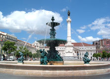 Grand dos de Rossio lisbonne portugal photo stock