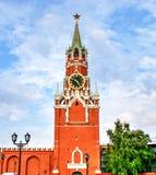 Grand dos de Spasskaya Tower Photos libres de droits