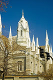 Grand dos de temple - Salt Lake City Photographie stock libre de droits