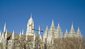 Grand dos de temple - Salt Lake City Photo stock
