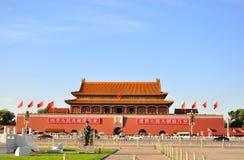 Grand dos de Tienanmen Images libres de droits