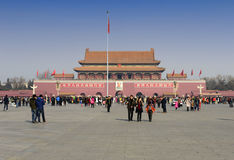 Grand dos de Tienanmen Images stock