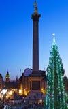 Grand dos de Trafalgar à Noël photo libre de droits