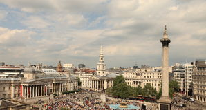 Grand dos de Trafalgar (Londres) Photographie stock libre de droits