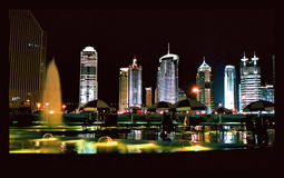 Grand dos de ville Image libre de droits