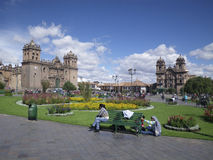 Grand dos de ville de Cuzco, Pérou, Amérique du Sud Photo stock