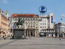 Grand dos de ville principal à Zagreb, Croatie Images stock