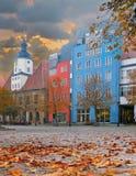 Grand dos du marché à Iéna, Thuringia, Allemagne photo libre de droits