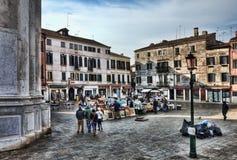 Grand dos du marché à Venise Photographie stock