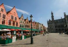 Grand dos du marché de Bruges Photos libres de droits
