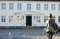 Grand dos du marché du Danemark Maribo   Photos stock